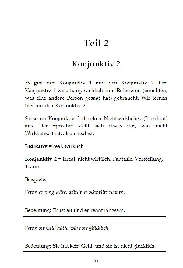 Learn German grammar easily with stories / Konjunktiv Seite 1